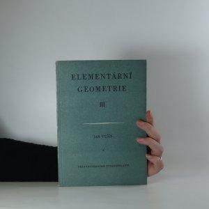 náhled knihy - Elementární geometrie III.