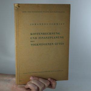 náhled knihy - Kostenrechnung und finanzplanung des volkeseigenen gutes
