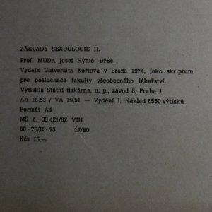 antikvární kniha Základy sexuologie. 1. a 2. svazek. (knihy jsou cítit kouřem), 1974