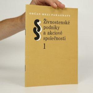 náhled knihy - Živnostenské podniky a akciové společnosti 1