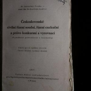 antikvární kniha Československé civilní řízení soudní, řízení exekuční a právo konkursní a vyrovnací, 1947