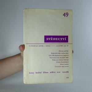 náhled knihy - Svědectví. Ročník XIII. číslo 49
