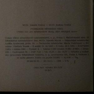 antikvární kniha Fyziologie dětského věku, 1961
