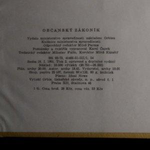 antikvární kniha Občanský zákoník, 1951