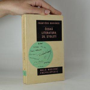 náhled knihy - Česká literatura 20. století
