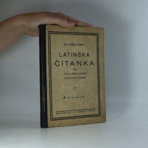 náhled knihy - Latinská čítanka pro pátou třídu gymnasií a reálných gymnasií. Díl I.
