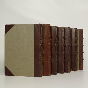 náhled knihy - Sedm knih nakladatelství Máj vázaných v kůži (vypsáno v poznámce)