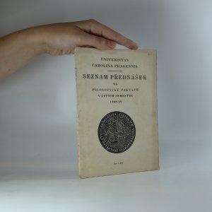náhled knihy - Seznam přednášek na Filosofické fakultě v letním semestru 1948-49
