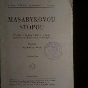 antikvární kniha Masarykovou stopou, 1938