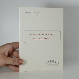 náhled knihy - Psychologické minimum pro grafologii