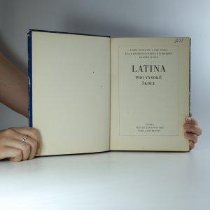 antikvární kniha Latina pro vysoké školy, 1972