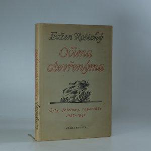 náhled knihy - Očima otevřenýma. Črty, fejetony, reportáže 1937-1942