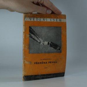 náhled knihy - Přeměna prvků