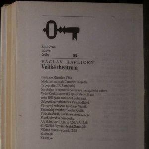 antikvární kniha Veliké theatrum, 1980