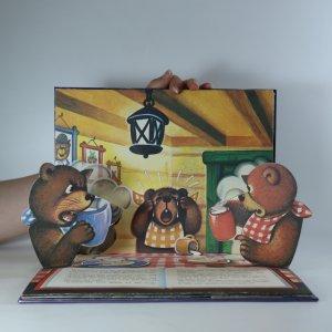 antikvární kniha Goldilocks and the Three Bears (pop-up leporelo, Zlatovláska a tři medvědi), neuveden