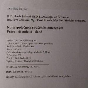antikvární kniha Nová společnost s ručením omezeným. Právo, účetnictví, daně, 2014