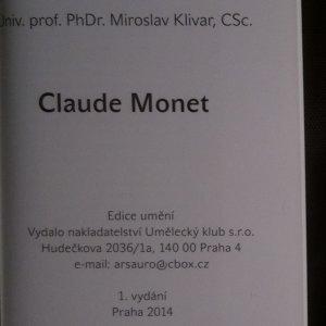 antikvární kniha Claude Monet, 2014