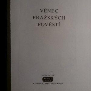 antikvární kniha Věnec pražských pověstí, 1908