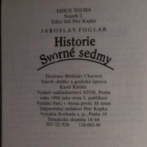 antikvární kniha Historie Svorné sedmy, 1990
