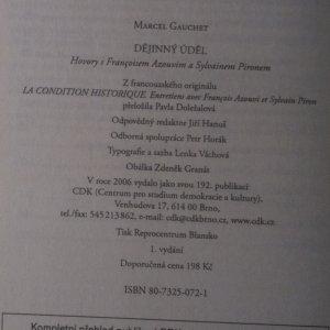 antikvární kniha Dějinný úděl, 2006