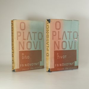 náhled knihy - O Platonovi I. a II. díl (2 svazky)