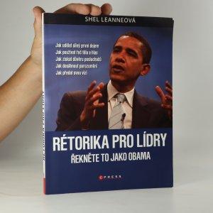 náhled knihy - Rétorika pro lídry. Řekněte to jako Obama