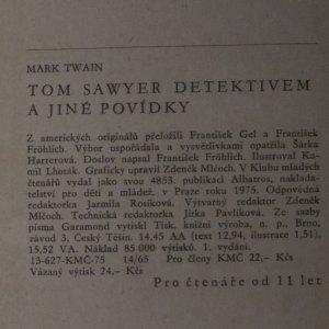 antikvární kniha Tom Sawyer detektivem a jiné povídky, 1975
