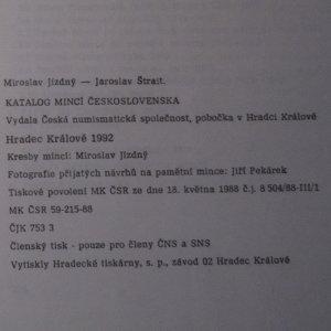 antikvární kniha Katalog mincí Československa, 1992