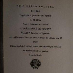 antikvární kniha Dílo Jiřího Wolkera, 1929
