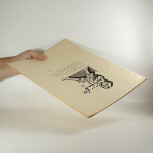 antikvární kniha 9 dřevorytů s podpisem autora (neočíslovaný výtisk), neuveden