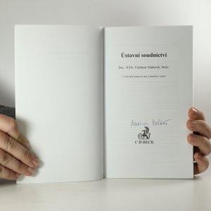 antikvární kniha Ústavní soudnictví, 2003