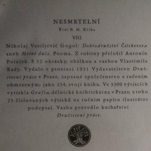 antikvární kniha Mrtvé duše, 1931