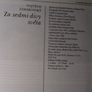 antikvární kniha Za sedmi divy světa, 1986