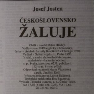 antikvární kniha Československo žaluje. Oh, my country., 1993