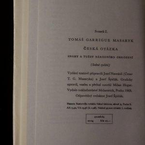 antikvární kniha České myšlení. Česká otázka, 1969