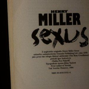 antikvární kniha Sexus (kniha je cítit kouřem), 1994