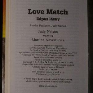 antikvární kniha Zápas lásky. Love match. Judy Nelson versus Martina Navrátilová, 1993