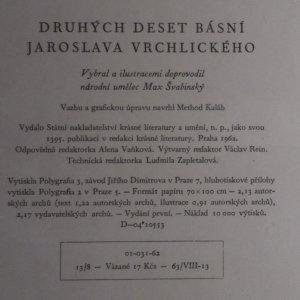 antikvární kniha Druhých deset básní Jaroslava Vrchlického, 1962