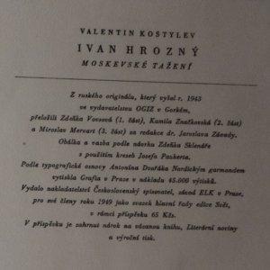 antikvární kniha Ivan Hrozný I.-III. (ve 3 svazcích), 1949, 1950,