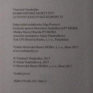 antikvární kniha Dobronínské morytáty, 2017