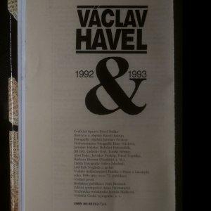 antikvární kniha Václav Havel. 1992 -1993, 1994