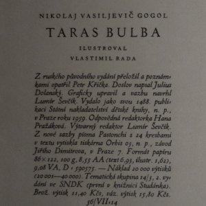 antikvární kniha Taras Bulba, 1959