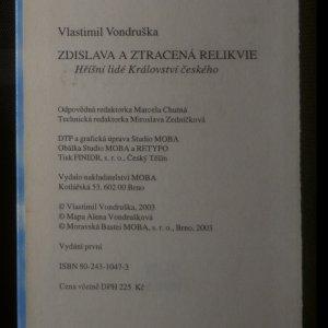 antikvární kniha Zdislava a ztracená relikvie, 2003
