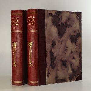 náhled knihy - Praha a Řím. (2 díly ve dvou svazcích)