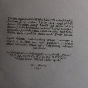 antikvární kniha Životopisy slavných Řeků a Římanů (1. a 2. díl ve 2 svazcích), 1967