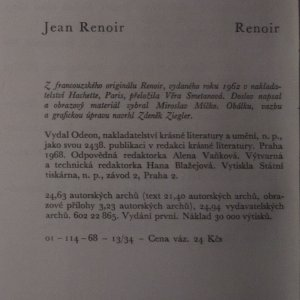 antikvární kniha Renoir, 1968