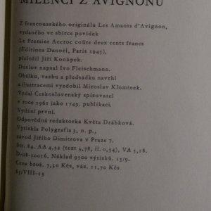 antikvární kniha Milenci z Avignonu, 1961