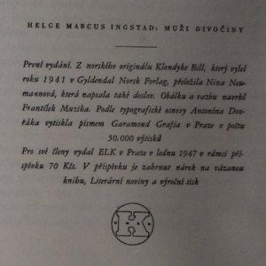 antikvární kniha Muži divočiny, 1947
