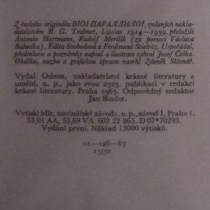 antikvární kniha Životopisy slavných Řeků a Římanů (I. a II. díl), 1967