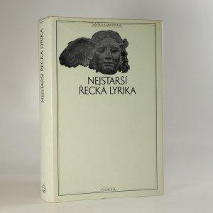 náhled knihy - Nejstarší řecká lyrika